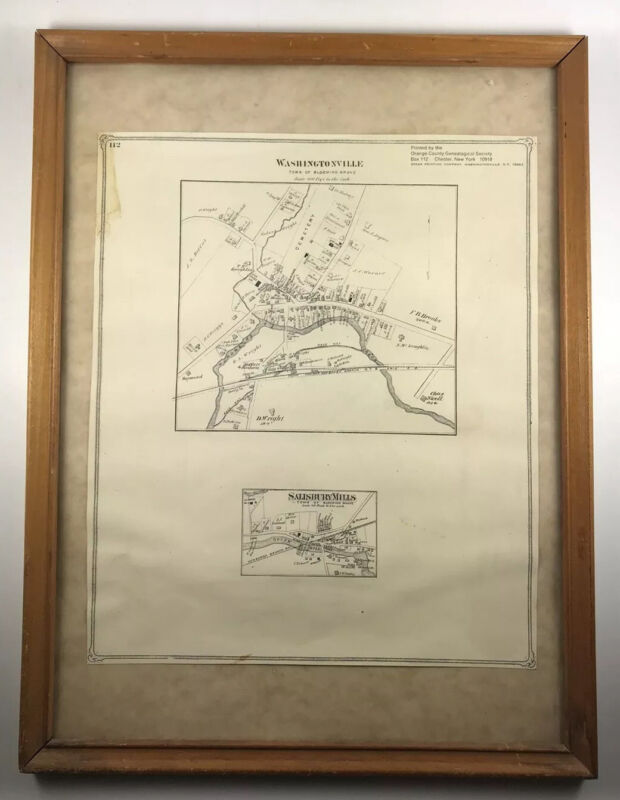 Washingtonville and Salisbury Mills NY Map with Homeowners Names Shown