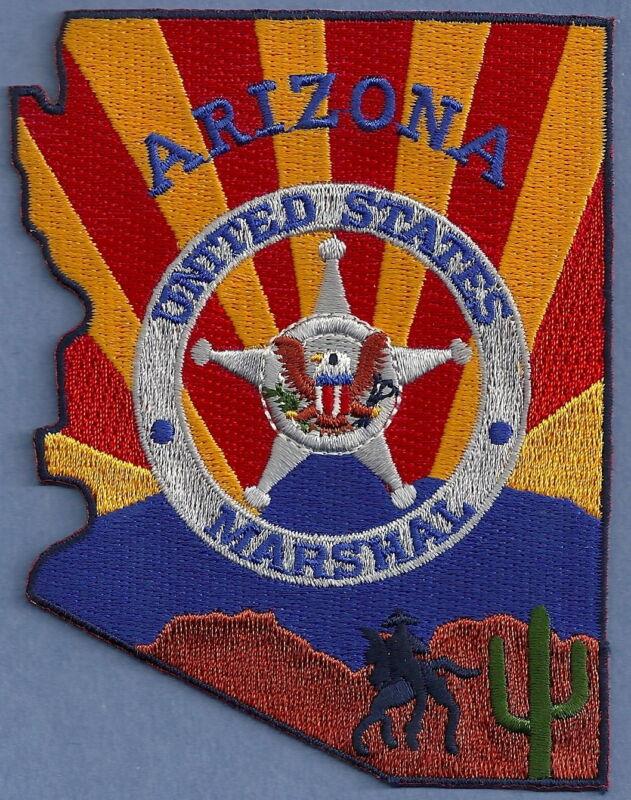 UNITED STATES MARSHAL ARIZONA SHOULDER PATCH