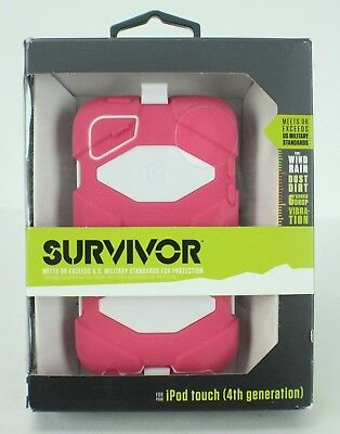Survivor Ipod Touch 4th Generation Case US Military Standard Pink white Ipod Touch 4. Generation Pink
