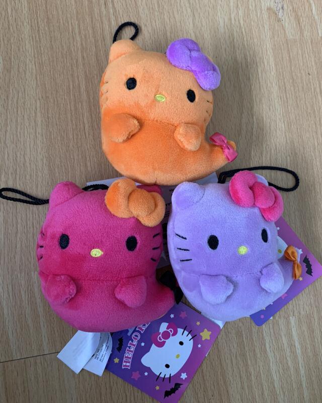 Sanrio Hello Kitty Purple Orange Pink plush Ghost Trinket Halloween 2020