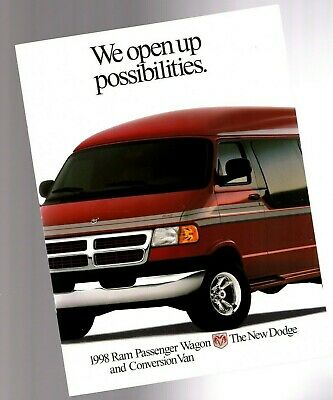 Big 1998 Dodge RAM VAN Brochure / Catalog with Color Chart: Conversion,Wagon,