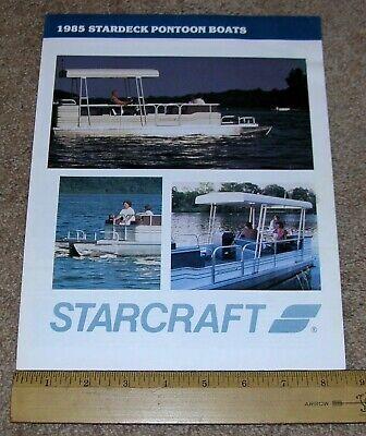 1985 STARDECK Pontoon Boats by STARCRAFT Dealer Stamped Sales Brochure Catalog