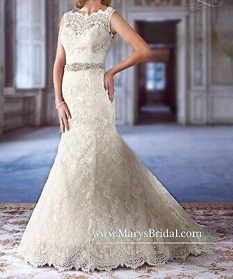 Mary's Bridal White Wedding Dress #6236 Size 8