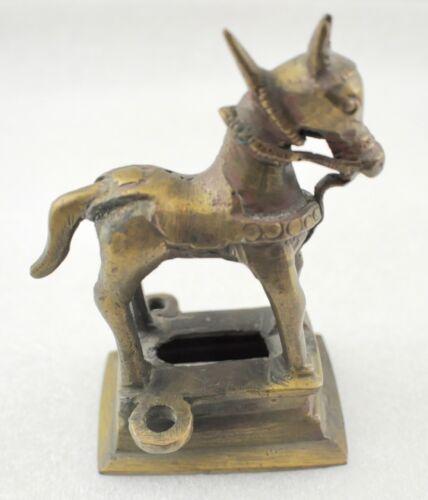 Vintage Bronze Donkey Figurine