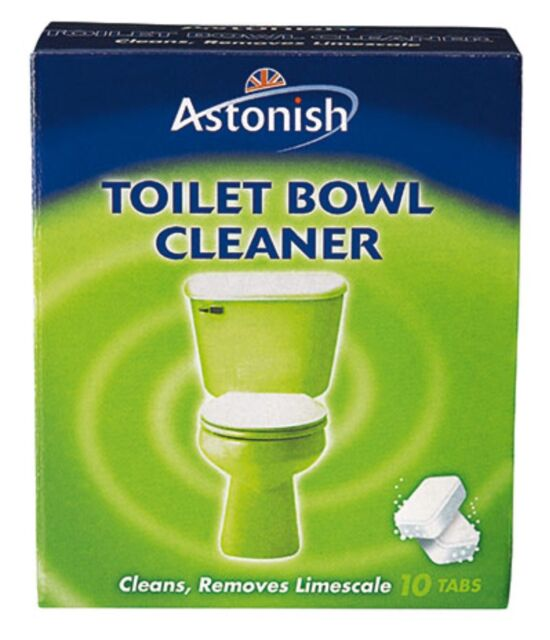 ASTONISH TOILET BOWL CLEANER TABLET 10 TABS LIMESCALE REMOVER DEODORISES