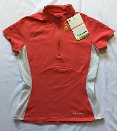 CANNONDALE Short Sleeve 1/4 Zip Bike Racing Cycling Shirt Je