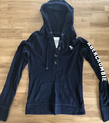 abercrombie and fitch Navy Hooded Top Ladies Small