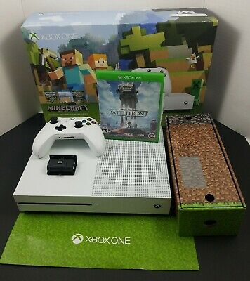Xbox One S Minecraft Bundle 500GB White Console Game Bundle Battlefront Doom
