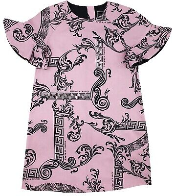 NEW Gorgeous Young Versace RRP £299 Pink Dress Top 4 YEARS kids Girls A318