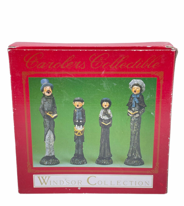 Windsor Collection Christmas Carolers Collectible Pencil Dickens Figurines Set 4