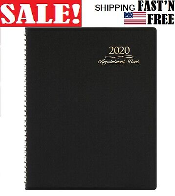 2020 Appointment Book Planner - Weekly Daily Hourly With Tabs 15 Min 8.26x10.7