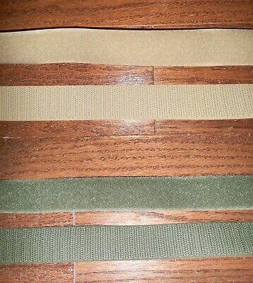1 INCH VELCRO® Brand HOOK & LOOP Fastener - Sew On Mil-Spec BEIGE or OLIVE GREEN
