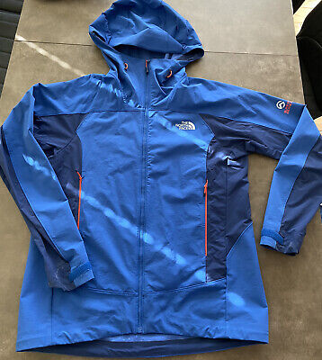 the north face Summit Series outer jacket with hood. Large Blue