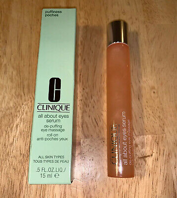 De Puffing Eye Serum - Clinique All About Eyes Serum De-Puffing Eye Massage Roll-On 15ml/0.5oz New