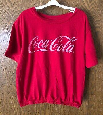 Coca-Cola t-shirt with elastic hem Size M