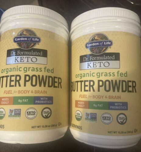 Lot Of 2 Garden of Life Dr. Formulated Keto Organic Grass Fed Butter Powder 4/21
