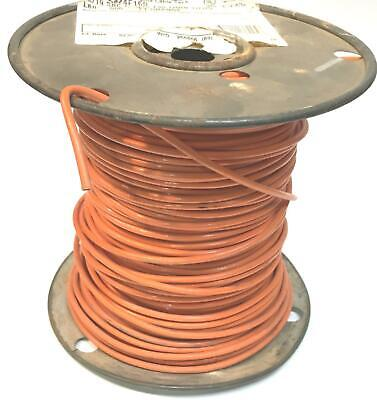 12 Awg Stranded Copper Wire Thhn Mtw Orange T90 Nylon Twn75 Partial Roll 9lbs