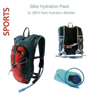 NEW Bike Water Bag Hiking Cycling Hydration Back Pack + Bladder Redcliffe Redcliffe Area Preview