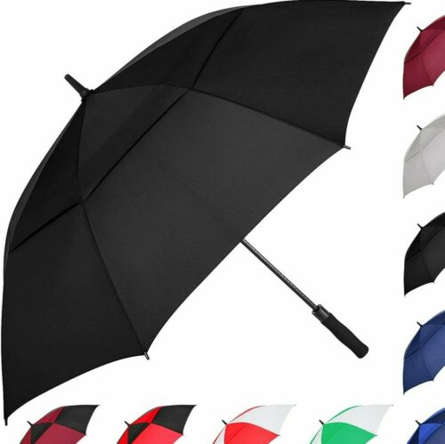 MRTLLOA Golf Umbrella Large 62 in Automatic Open Double Canopy Vented Windproof