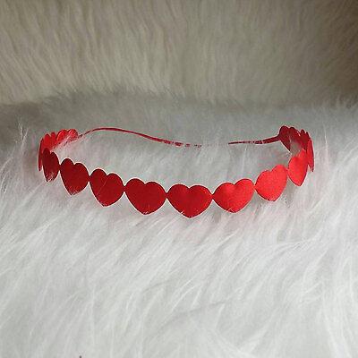 1 - VALENTINES DAY HEART HEADBAND HIPPIE HALO HANDMADE MADE IN USA YOU PICK SIZE