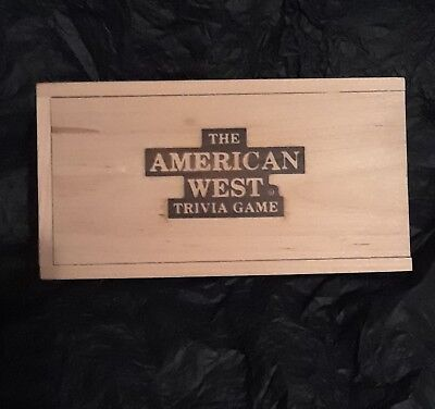 The American West Trivia Game Educational History Vintage Board Traditional Game
