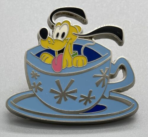 PLUTO in Mad Hatter Tea Party Teacup Disney Baby Character Vehicles Pin #100500