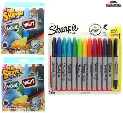Smelly Scented Markers Sharpie Fine Point Permanent Marker Set New