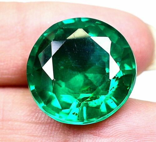 VVS 34.50 CT Colombian Natural Green Emerald CERTIFIED Loose Gemstone GS0293