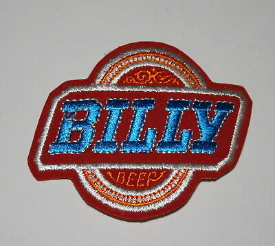 2 Vintage Billy Beer Distributor Patch 1970s NOS New Jimmy Carter's Brother Pair