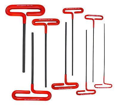 Bondhus 46587 Hex Tip Cushion Grip Loop T-Handles Set, 9