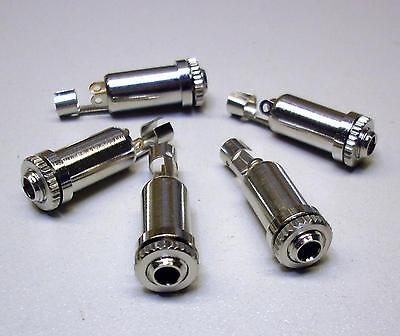 5 Stück Stereo Klinken-Einbaubuchsen (geschirmt) 3,5 mm  (M3361)