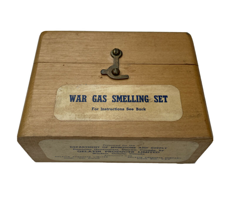 RARE WW2 Canadian War Gas Smelling Set, Authentic