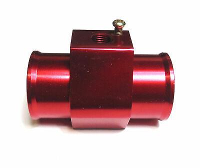 32MM O/D RADIATOR COOLANT HOSE ADAPTER FOR WATER TEMP GAUGE SENSOR RED
