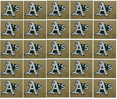 Oakland Athletics Baseball Sticker Set of 25 Team Logo Design Made in the USA Oakland Athletics Design