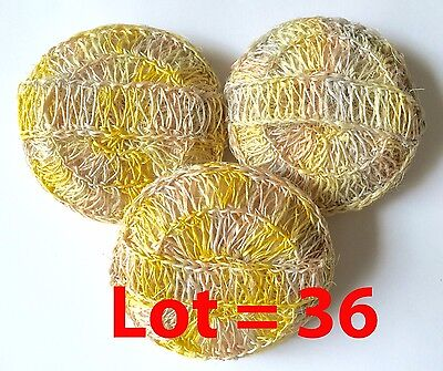 Wholesale Lot 36 Ayate Sisal Bath Body Spa Sponge Scrubber Dry Brush Loofah