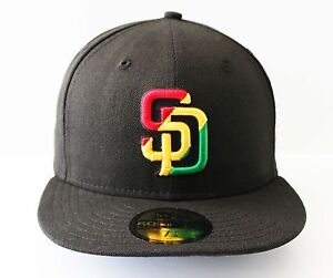 New-Era-5950-San-Diego-Padres-RASTA-MLB-Baseball-Cap-Hat