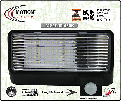 MG1000-450B 12 Volt Exterior Motion RV LED Porch Light, RV Security Motion Porch