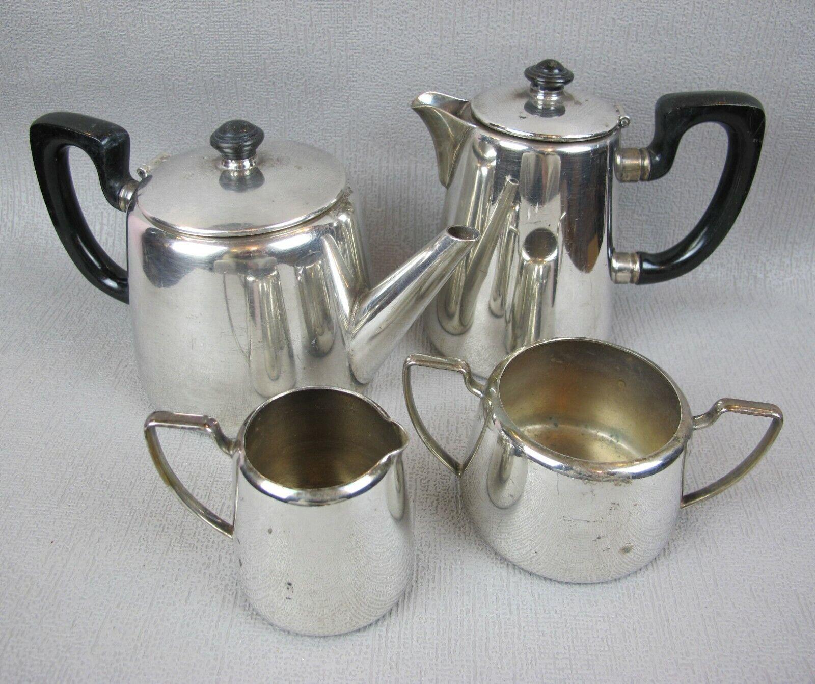 Superb vintage hotel style Elkington silver plated Tea Set Teapot Coffee Pot etc