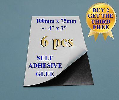 61 Self Adhesive Flexible Refrigerator Magnet Sheets 10x7.5cm 4x3 Peel Stick