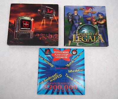 Lot of Playstation Demo Dsics-Legend of Legaia,Underground 3.2,Pizza Hut,Scratch