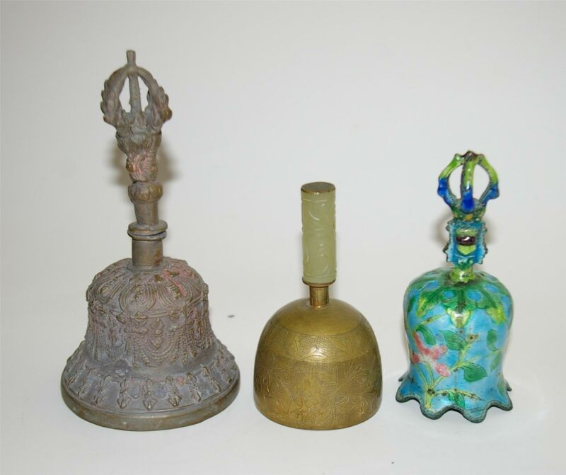 Group of 3 Antique Chinese Bells