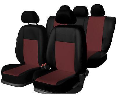Premium Universal Autositzbezüge Sitzbezüge Kunstleder Schonbezüge ROTWEIN
