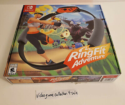 Ring Fit Adventure (Nintendo Switch, 2019) Complete CIB w/ Game Box Ring Strap
