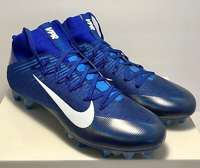 1967b9dac3ec2 Nike Mens Size 11 Untouchable 2 Blue White Football Cleats New Rare  200