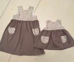 2T and 0-3 month matching dresses