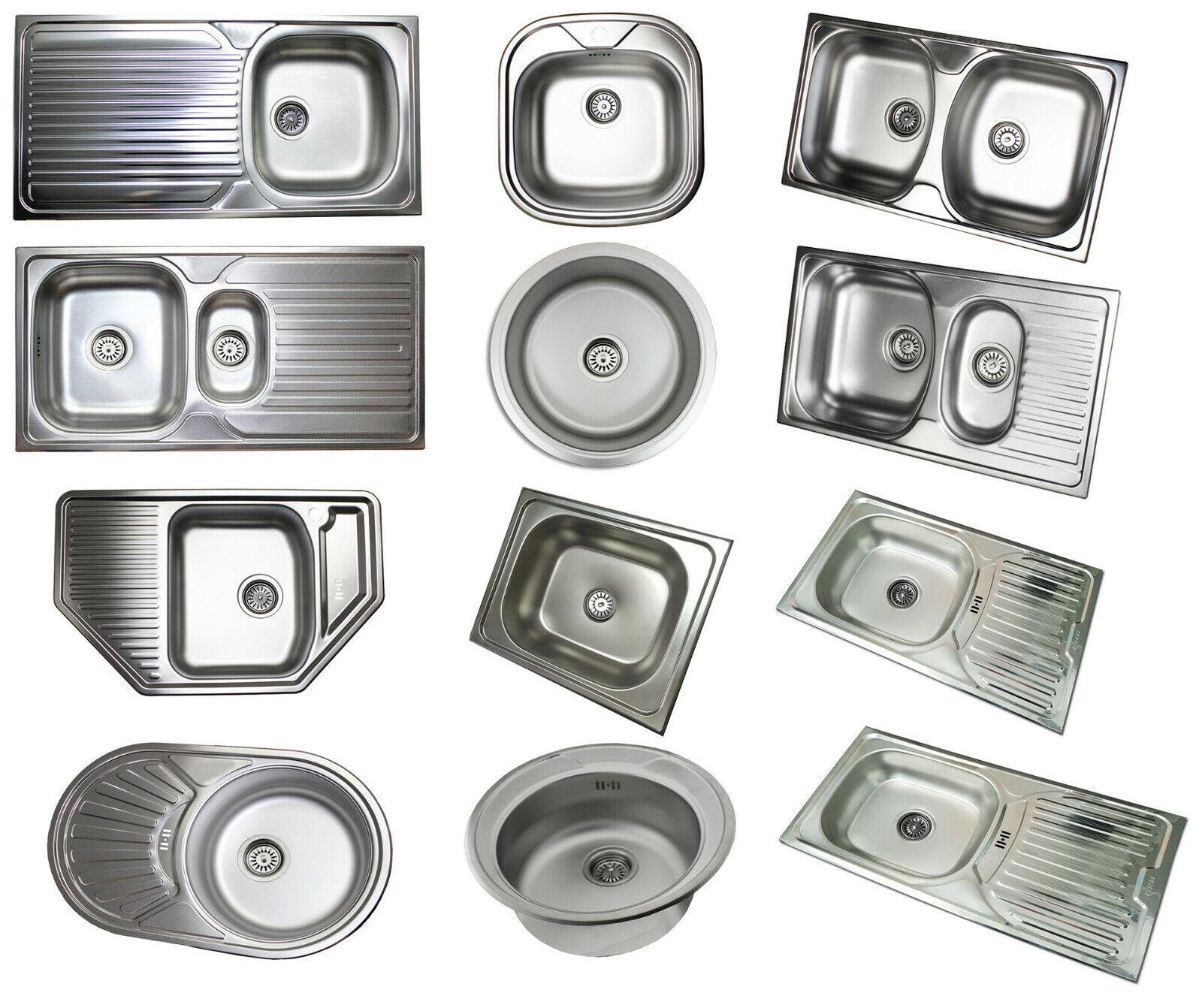 Edelstahl Einbauspüle Küchenspüle Spülbecken verschiedene Modelle Ablaufgarnitur