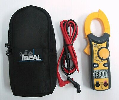 New Ideal Clamp-pro 600 Aac Meter Cat Iii - 61-744 W Case Leads Free Ship