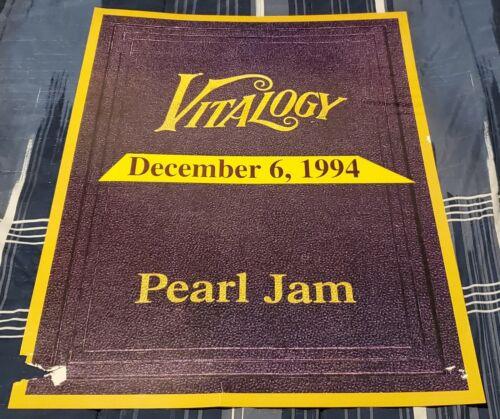 PEARL JAM - VITALOGY - DECEMBER 6, 1994 Poster