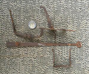 ancien m canisme loquet de porte fer forg de grange chalet french antique lock ebay. Black Bedroom Furniture Sets. Home Design Ideas