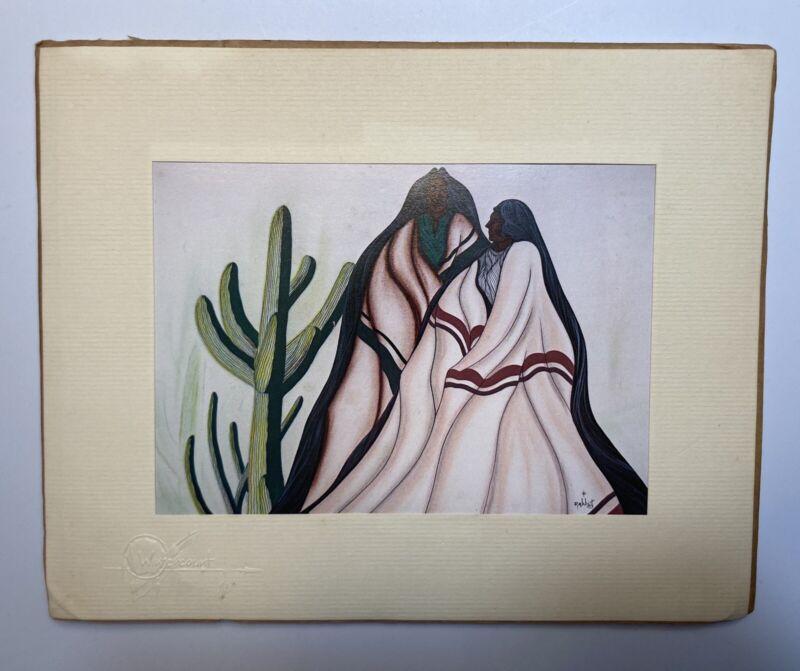 "William ""Bill"" Rabbit Cherokee American Indian Fine Art print Desert Shadows"